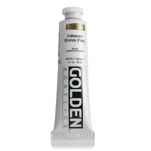 Golden Heavy Body Acrylic Paint 2oz Iridescent Pearl (Fine)