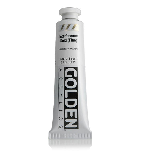 Midoco.ca: Golden Heavy Body Acrylic Paint 2oz Interference Gold