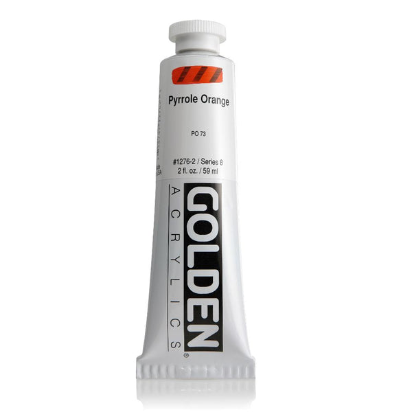 Golden Heavy Body Acrylic Paint 2oz Pyrrole Orange