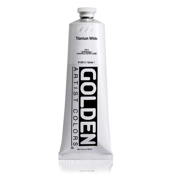 Midoco.ca: Golden Heavy Body Acrylic Paint 5oz Titanium White