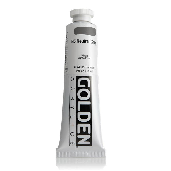 Midoco.ca: Golden Heavy Body Acrylic Paint 2oz Neutral Grey N5