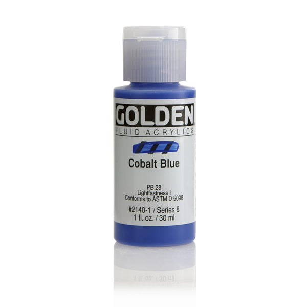 Midoco.ca: Golden Fluid Acrylic Paint 1oz Cobalt Blue