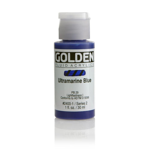 Midoco.ca: Golden Fluid Acrylic Paint 1oz Ultramarine Blue
