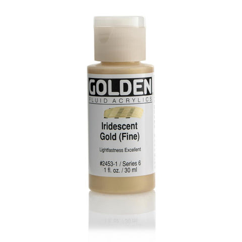 Midoco.ca: Golden Fluid Acrylic Paint 1oz Iridescent Gold (Fine)