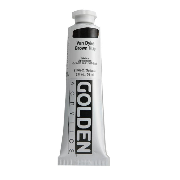 Golden Heavy Body Acrylic Paint 2oz VanDyke Brown Hue