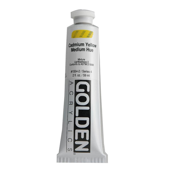Midoco.ca: Golden Heavy Body Acrylic Paint 2oz Cadmium Yellow Medium Hue