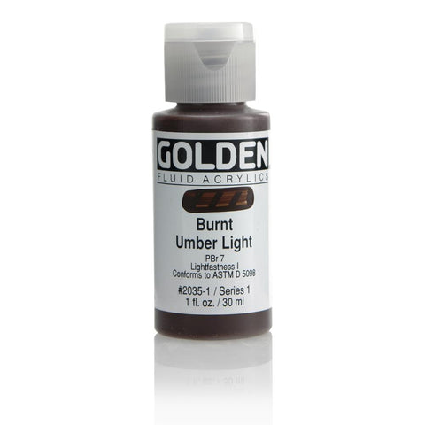 Golden Fluid Acrylic Paint 1oz Burnt Umber