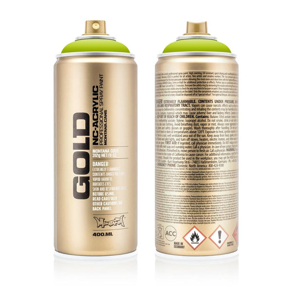 Midoco.ca: Montana GOLD 400mL Spray Paint - Lime