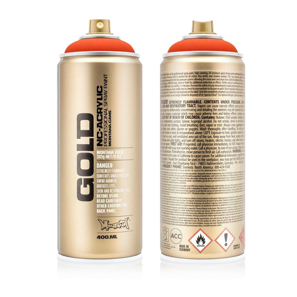 Montana Gold 400mL Spray Paint - Power Orange