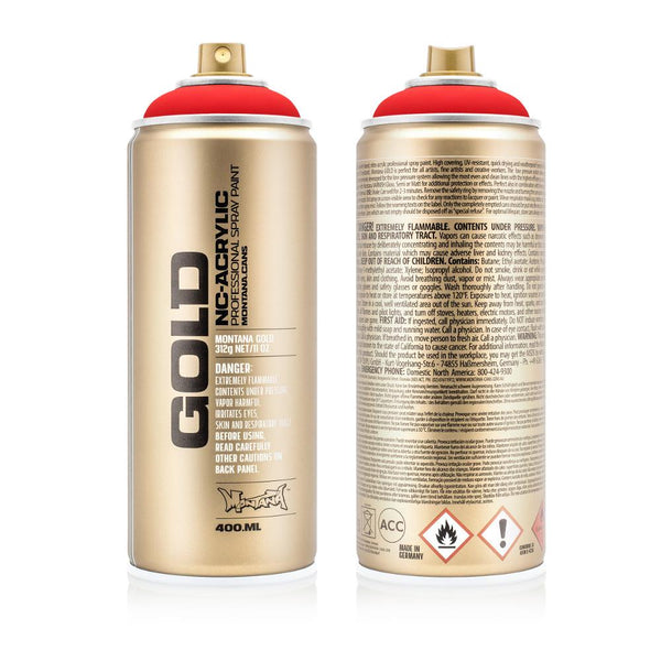 Midoco.ca: Montana GOLD 400mL Spray Paint - Fluorescent Fire Red