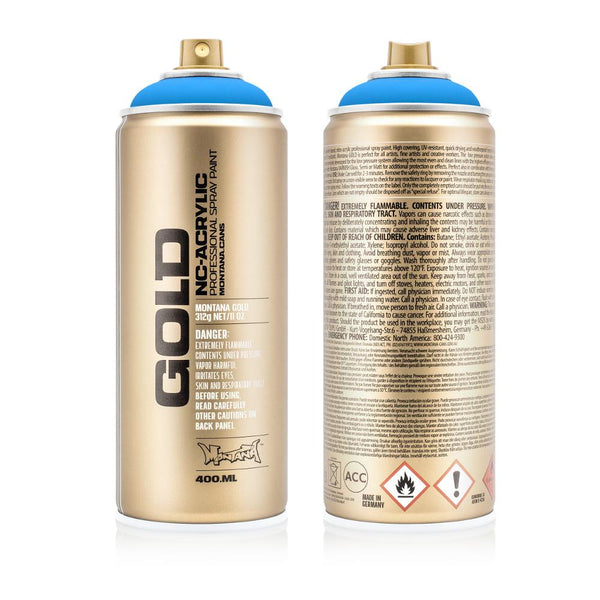 Montana Gold 400mL Spray Paint - Flame Blue