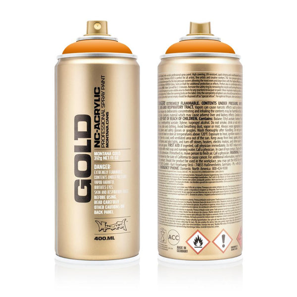 Montana Gold 400mL Spray Paint - Shock Orange Light