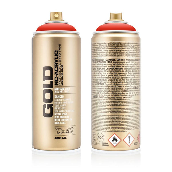 Montana Gold 400mL Spray Paint - Shock Orange Dark