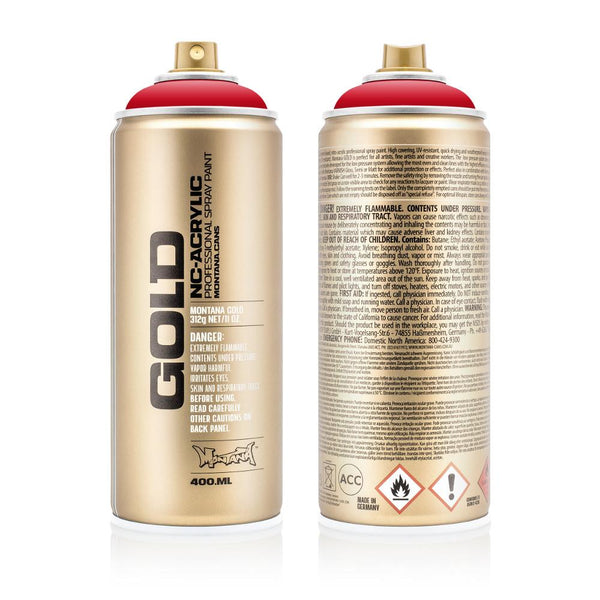 Montana Gold 400mL Spray Paint - Shock Red