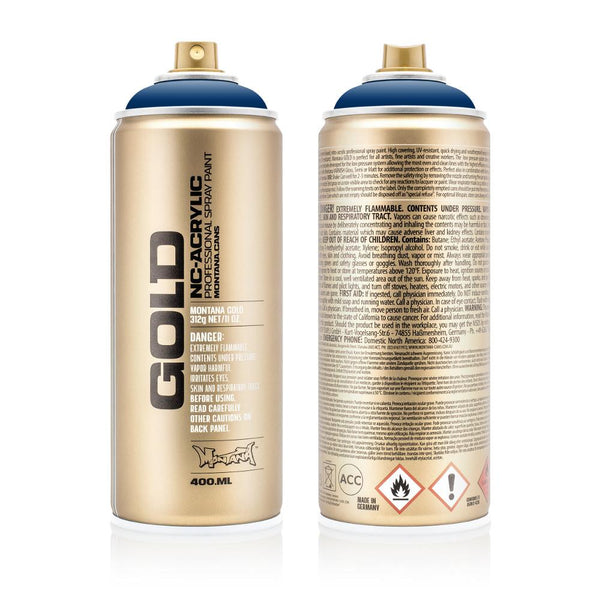 Montana Gold 400mL Spray Paint - Shock Blue Dark