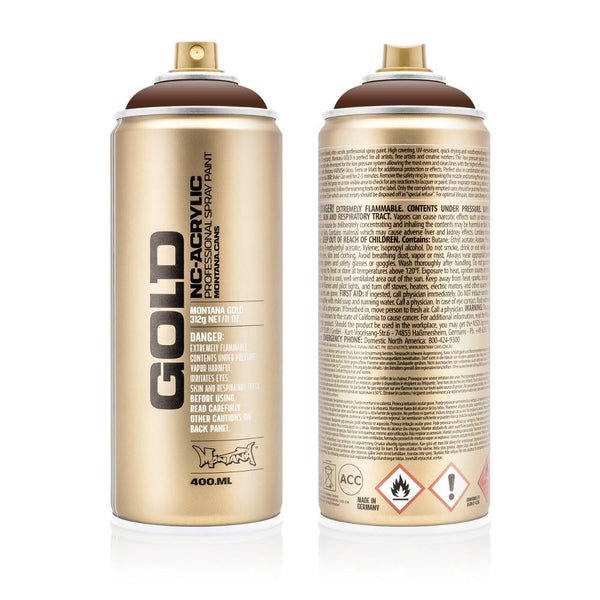 Midoco.ca: Montana GOLD 400mL Spray Paint - Shock Brown