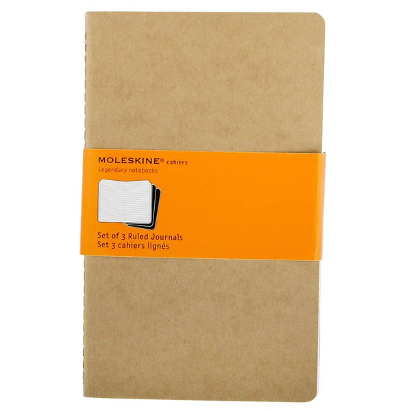 Moleskine Ruled Cahier Large 3-Pack - Kraft