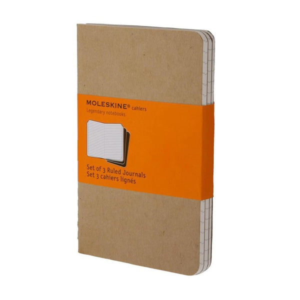 Moleskine Ruled Cahier Pocket 3-Pack - Kraft