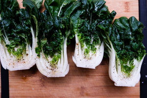 four bok choy bunches