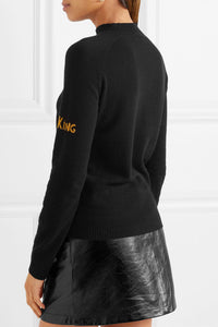 Crown Metallic Intarsia Sweater