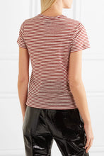 Guy striped linen-blend jersey T-shirt