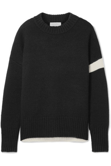 Varsity Striped Cashmere Sweater
