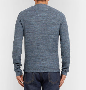 Slim-Fit Waffle-Knit Mélange Cotton And Linen-Blend Cardigan