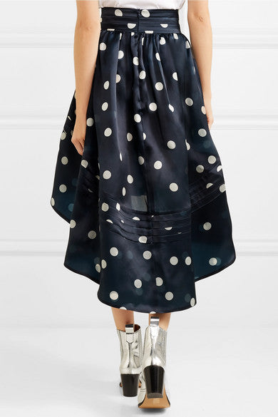 Asymmetric Polka-Dot Organza Skirt