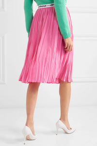 Pleated Silk Midi