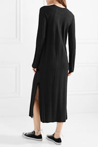 Gerri ribbed-knit midi dress