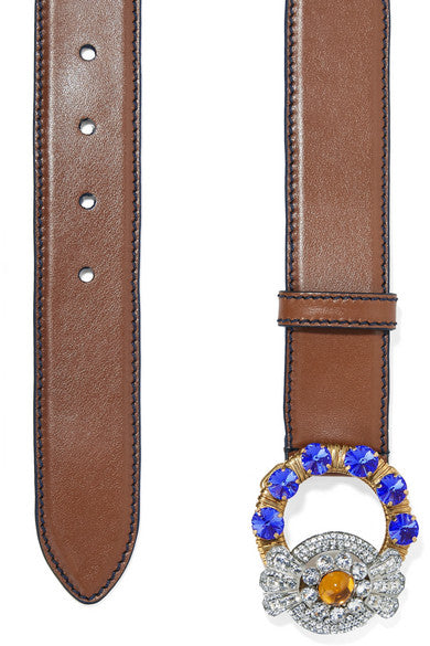 Crystal-embellished belt