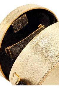 Tasseled Collarbox Metallic Bag
