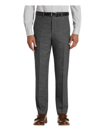 Joseph Abboud Charcoal Gray Linen & Wool Modern Fit Dress Pant