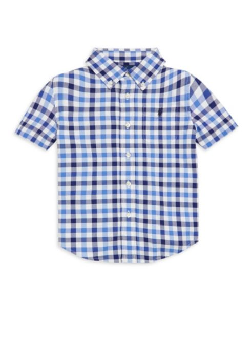 Plaid Stretch Collared Shirt