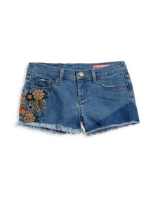 In Bloom Denim Shorts
