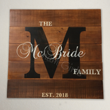 Personalized Family Sign - Large
