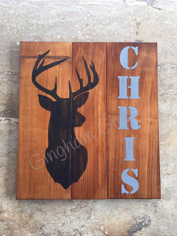 STAG - personalised sign