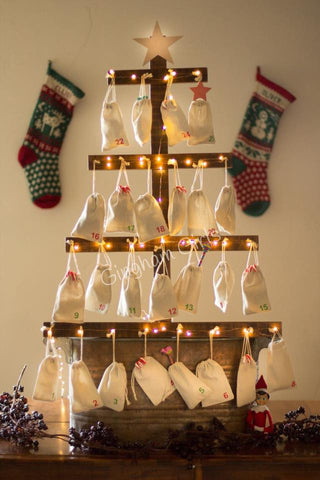 Rustic Christmas Advent Tree - PREORDER ONLY