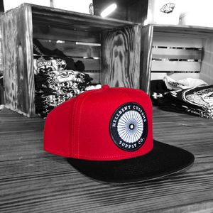 H.C.S.C. Wheel Patched Hat - Red and Black
