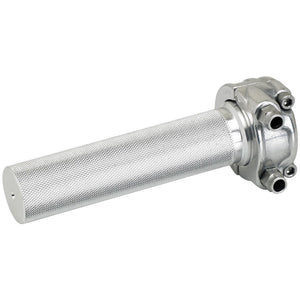 "WHISKEY THROTTLE 1"" DUAL - POLISHED"
