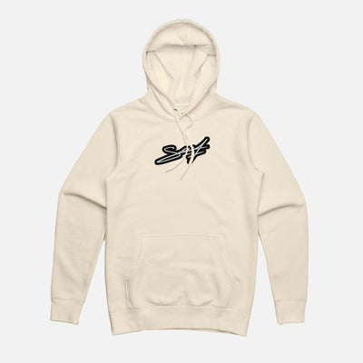 Hoodie Beige - Signature Patch brodé