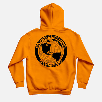 Hoodie Orange - Black OGO V2