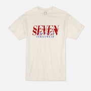 T-shirt Beige - Double Red Logo