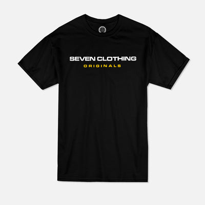 T-shirt Black - SEVEN ORIGINALS Yellow édition