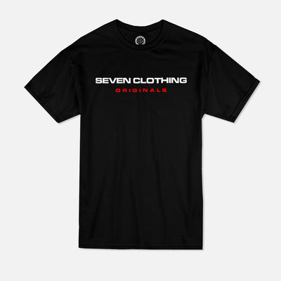 T-shirt Noir - SEVEN ORIGINALS Red édition