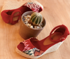 Espadrille Sandals Red Peep Toe
