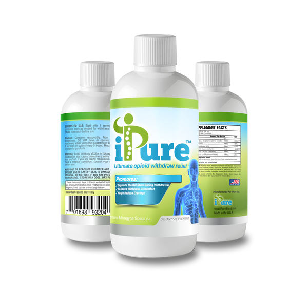 iPure, ultimate opioid withdraw relief. New contender in the fight against opioid dependency. Get our 5-DAY ULTIMATE OPIOID WITHDRAWAL DETOX PACKAGE. Support in the fight against the opioid epidemic