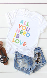 """All You Need Is Love"" Tee Shirt"