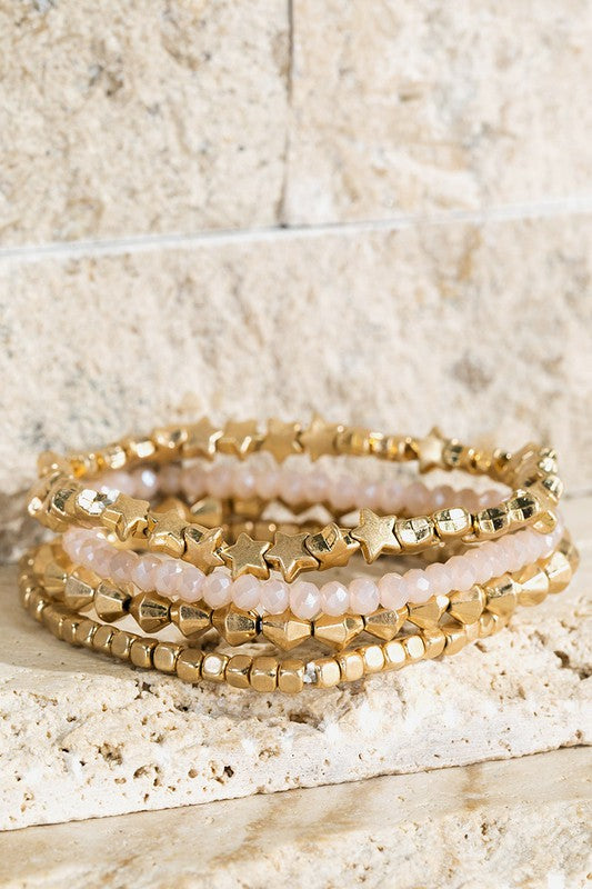 Star Bracelet Set - Natural