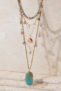 Layered Natural Stone Necklace